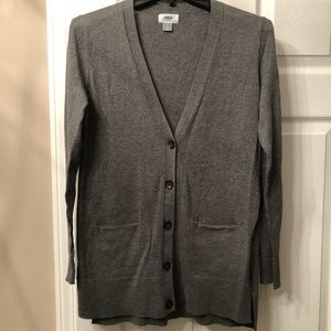 Old Navy Gray Button Up Cardigan- Great Condition!